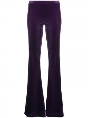 Расклешенные бархатные брюки Antonella Rizza. Цвет: фиолетовый
