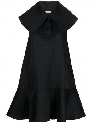 Платье с широким воротником Nina Ricci. Цвет: черный