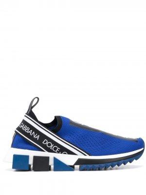 Кроссовки-носки Sorrento Dolce & Gabbana. Цвет: синий