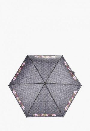 Зонт складной Braccialini. Цвет: серый