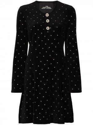 Платье Paris с кристаллами Marc Jacobs. Цвет: черный