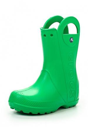 Резиновые сапоги Crocs. Цвет: зеленый