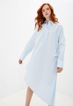 Платье MM6 Maison Margiela. Цвет: голубой