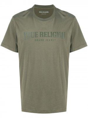 Футболка с логотипом True Religion. Цвет: зеленый
