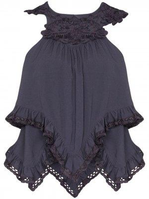 Блузка без рукавов с вышивкой Isabel Marant. Цвет: серый
