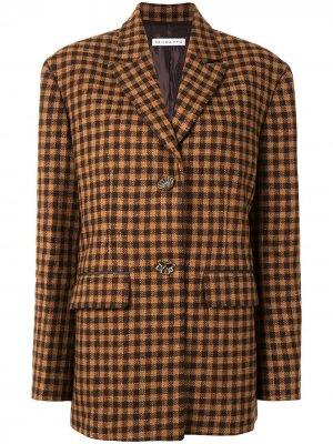Клетчатый пиджак Bowen Rejina Pyo. Цвет: коричневый