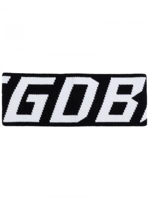 Повязка на голову с логотипом бренда Golden Goose Deluxe Brand. Цвет: черный