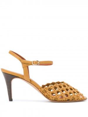 Плетеные туфли Lala Michel Vivien. Цвет: коричневый